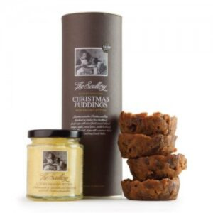 The Scullery Canister of 4 Individual Luxury Christmas Puddings
